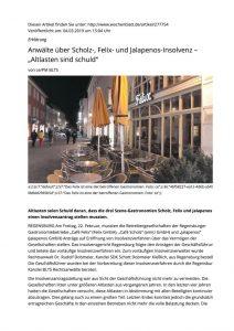 thumbnail of Wochenblatt_Insolvenz Felix, Jalapenos, Scholz