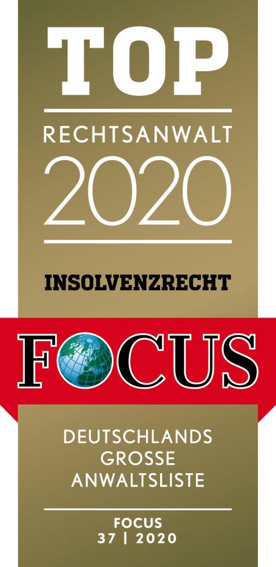 Jürgen Steinhofer FOCUS-TOP-Anwalt Insolvenzrecht 2020